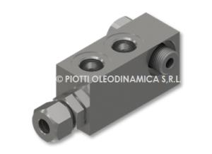 COMPACT DOUBLE PILOT CHECK VALVE DIN 2353 - VRDE/CIL DIN2353 -