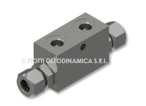 VRSE single pilot check valve din 2353